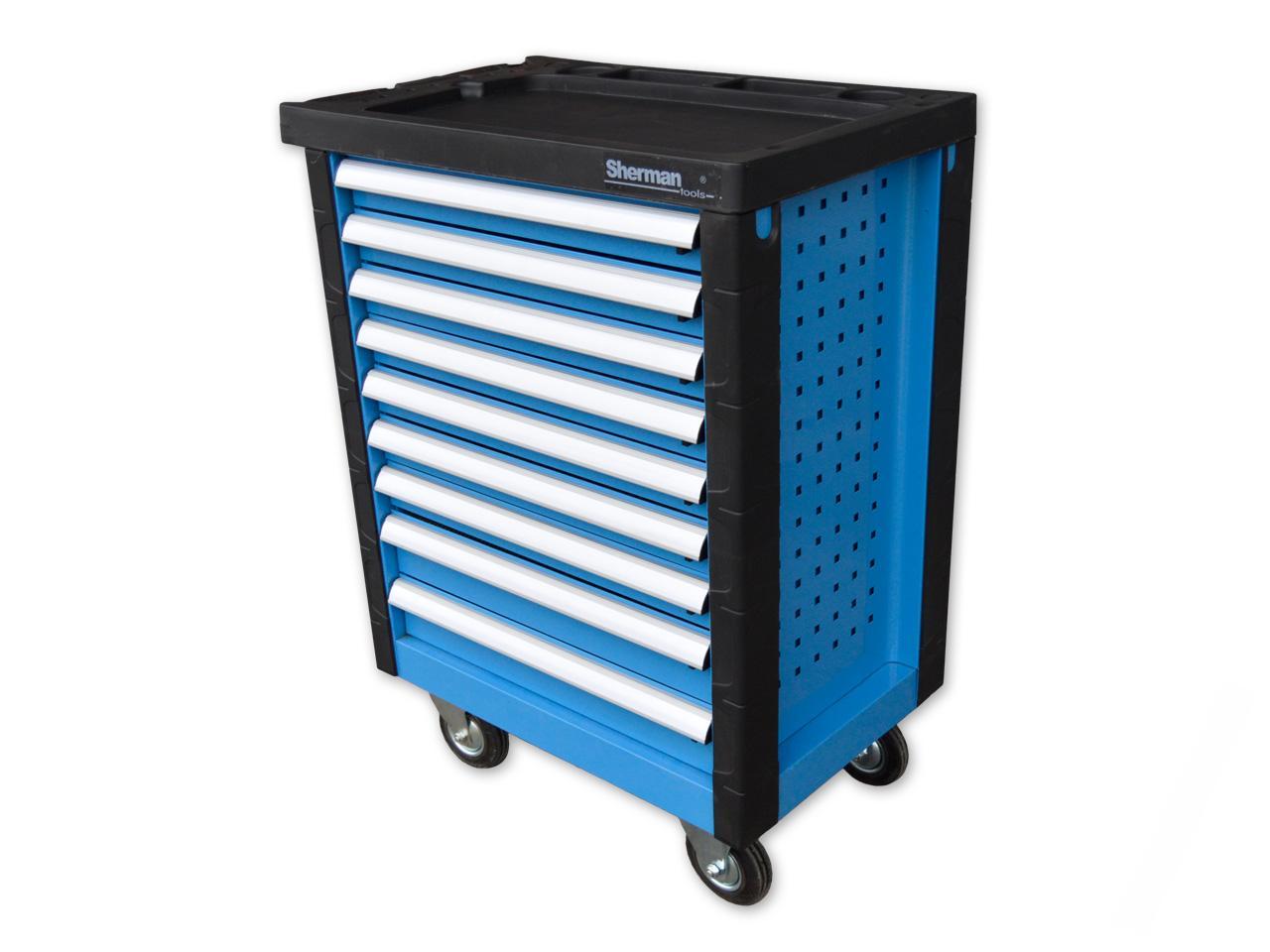 e719f82863077 Vybavenie autodielne | Sherman 6/9 dielenský vozík na náradie modrý ...