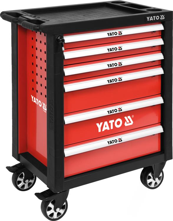 8c9555c9f2d65 Vybavenie autodielne | YATO Dielenský vozík 6 zásuviek červený ...