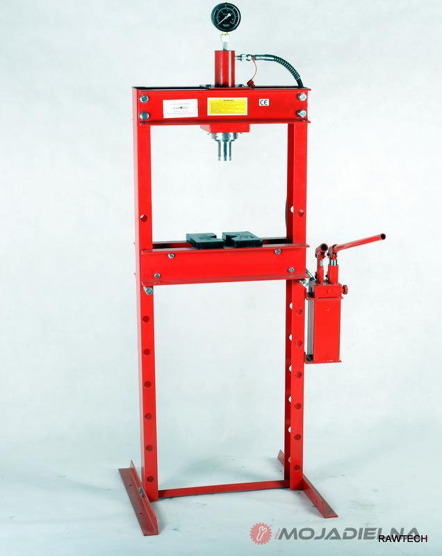 Hydraulický lis s tlakomerom 20T - 2st.pumpa - 85kg